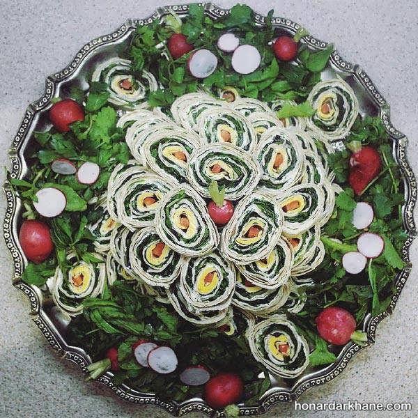 انواع دیزاین زیبا و خلاقانه نون پنیر سبزی