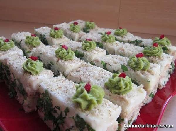 انواع ایده های جذاب دیزاین نون پنیر سبزی