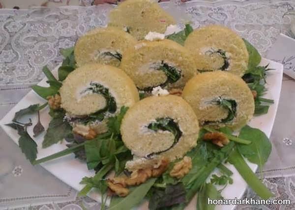 انواع دیزاین خلاقانه نون پنیر سبزی