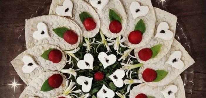 انواع تزیین نون پنیر سبزی برای سفره افطار