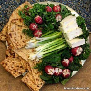 انواع زیبا سازی نون پنیر سبزی