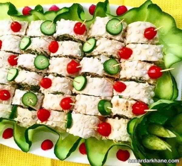 انواع دیزاین شیک نون پنیر سبزی