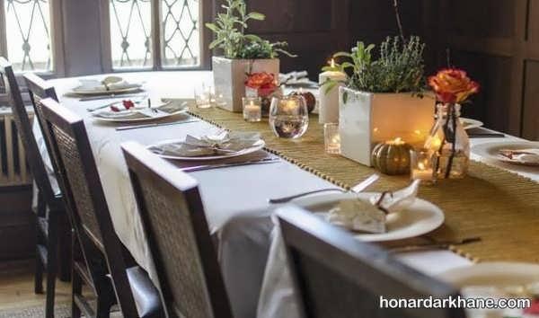 مدل های زیبا و متفاوت تزیین میز ناهار خوری