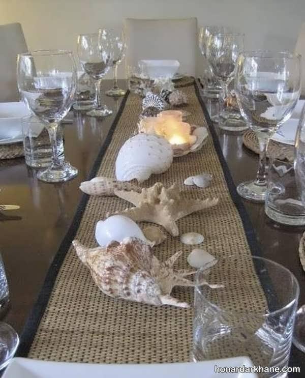 انواع دکوراسیون جدید میز ناهار خوری