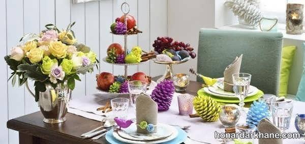 انواع تزیین خلاقانه میز ناهار خوری