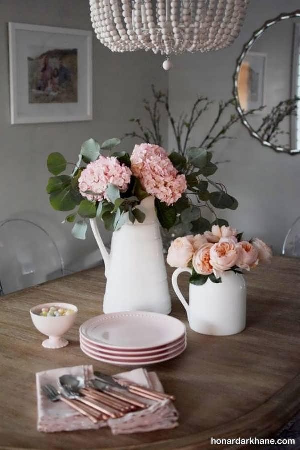 جدیدترین انواع مختلف تزیین میز ناهار خوری