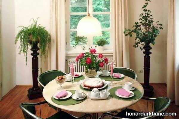 انواع تزیین جذاب میز ناهار خوری