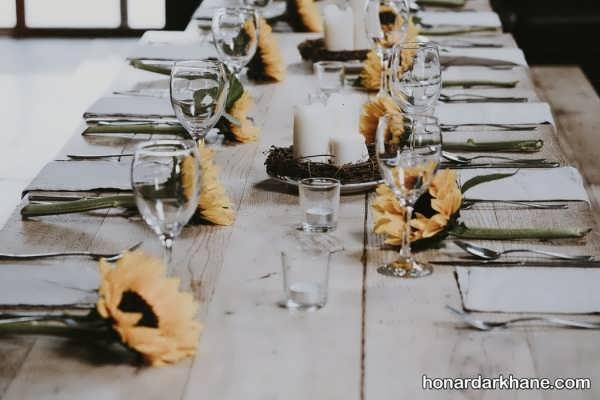 ایده های خاص و متفاوت چیدمان میز ناهار خوری