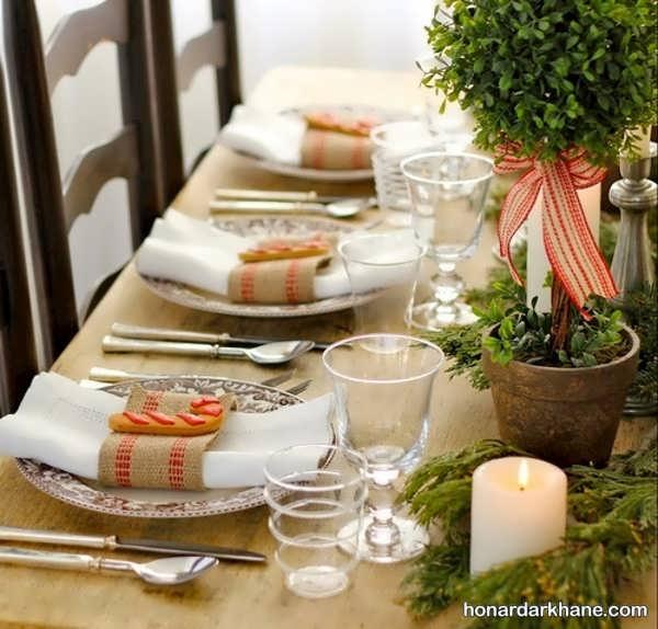 انواع تزیین زیبا و خاص میز ناهار خوری