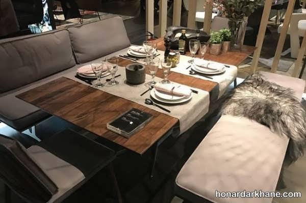 انواع چیدمان جالب میز ناهار خوری