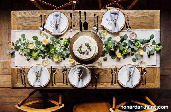 انواع دیزاین جذاب میز ناهار خوری