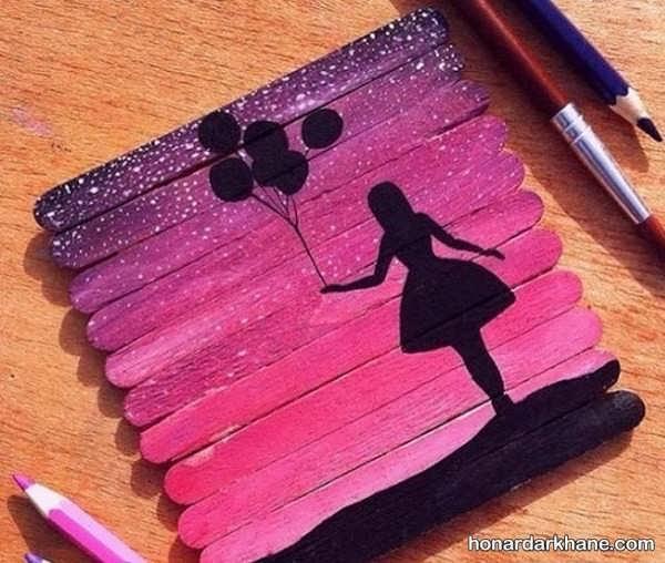 انواع هنردستی زیبا دخترانه با وسایل ساده