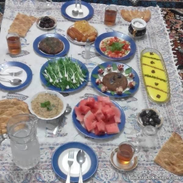انواع تزیین شیک و جالب میز افطاری