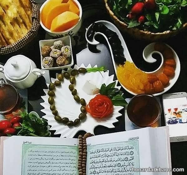 انواع چیدمان زیبا میز افطاری