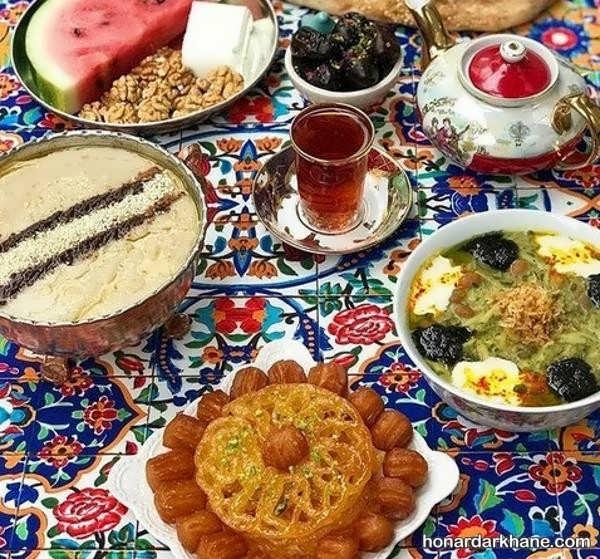 انواع دیزاین زیبا و جذاب سفره افطاری