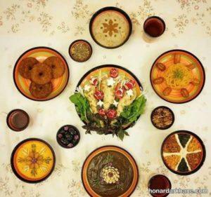 انواع تزیین جذاب و زیبا میز افطاری