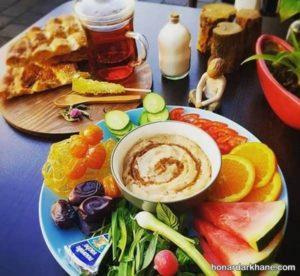 انواع تزیین شیک و زیبا میز افطاری