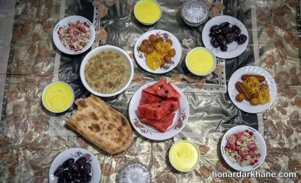 انواع چیدمان جالب سفره افطاری