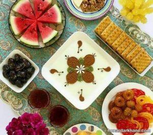 انواع مختلف تزیین سفره افطاری