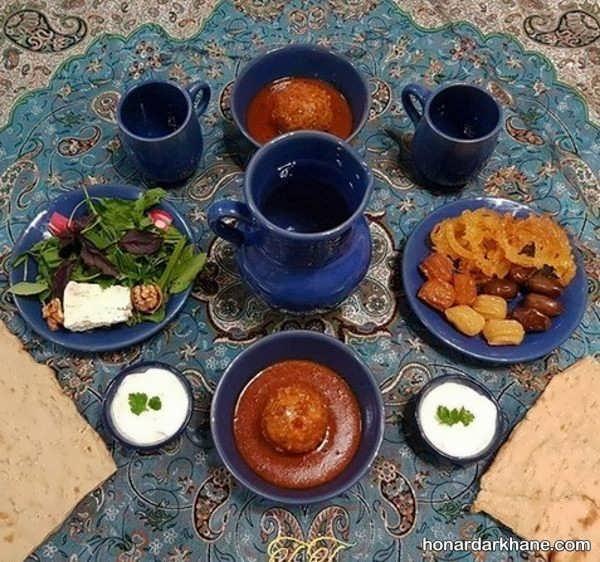 انواع تزیین زیبا و جذاب سفره افطاری