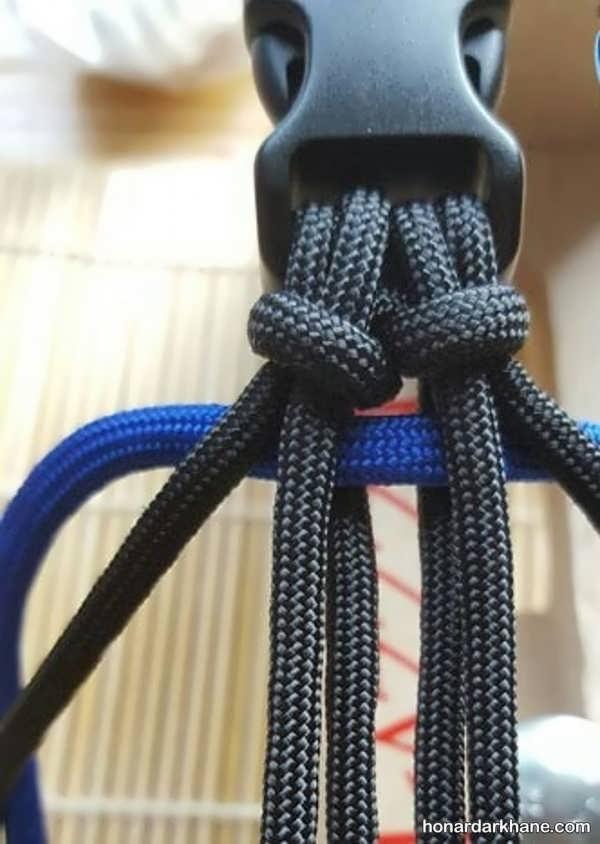 آموزش درست کردن دستبند با بند کفش