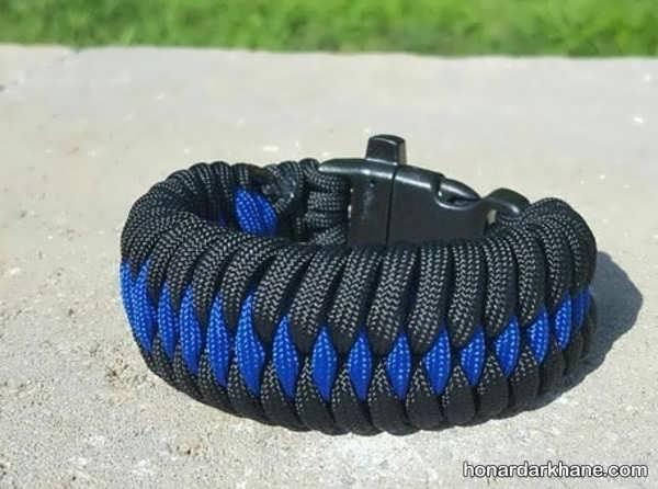 روش بافتن دستبند با بند کفش