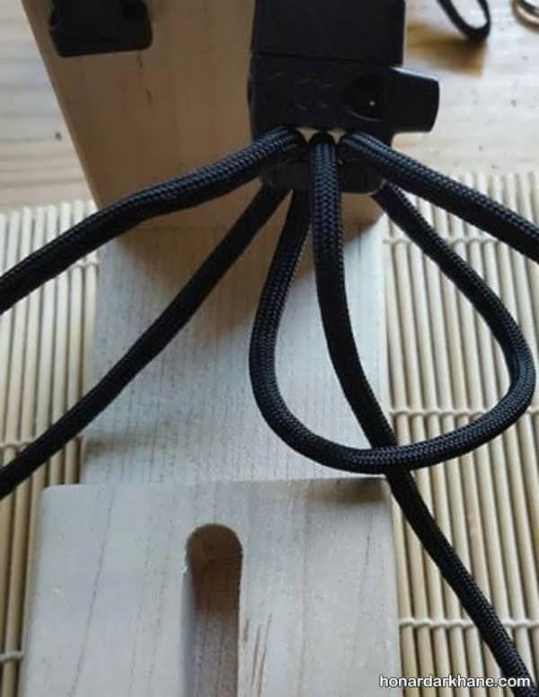 نحوه بافت دستبند با بند کفش به روشی ساده