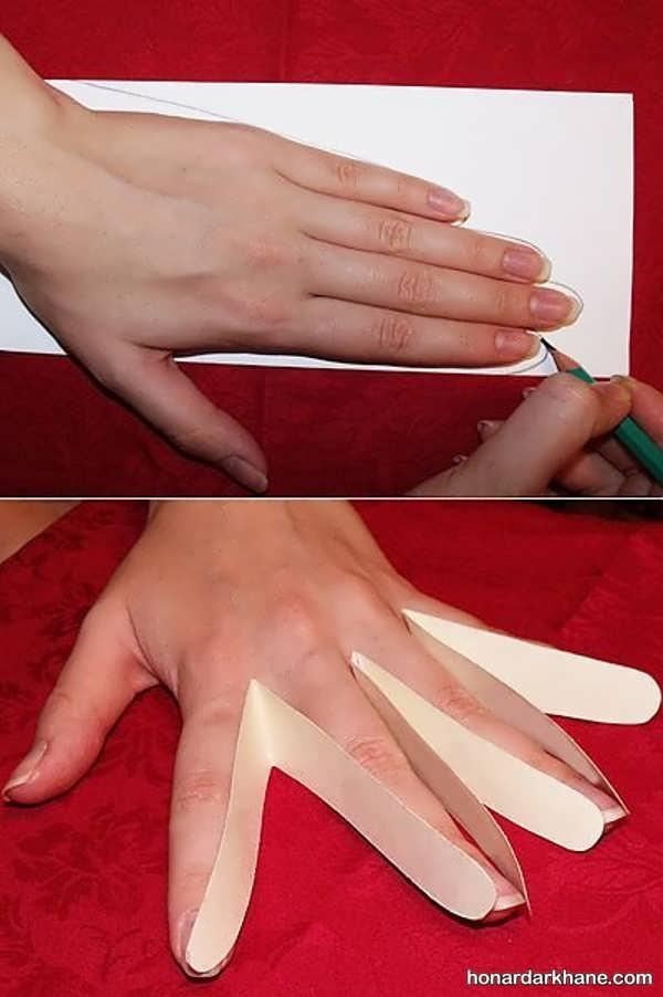 آموزش خیاطی دستکش پارچه ای