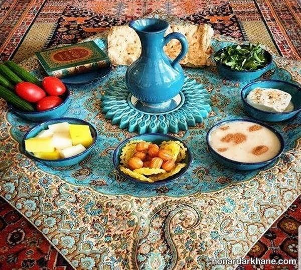 انواع دیزاین شیک و ساده میز افطار