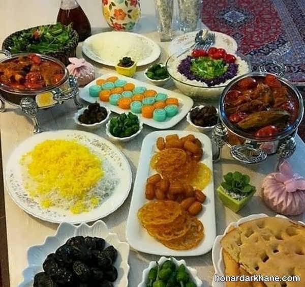 انواع دیزاین جدید و ساده میز افطار