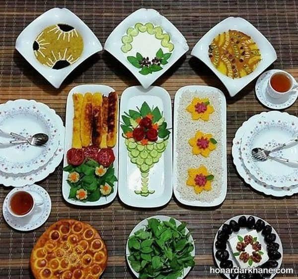 انواع چیدمان زیبا و ساده میز افطار