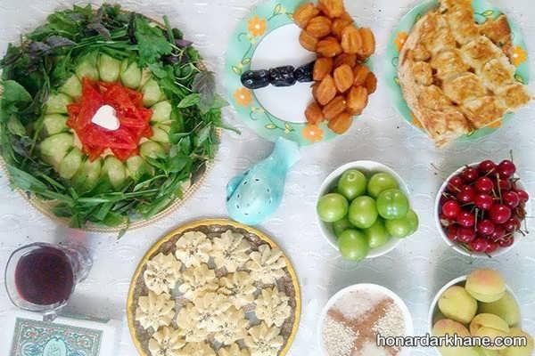 انواع دیزاین زیبا و ساده میز افطار