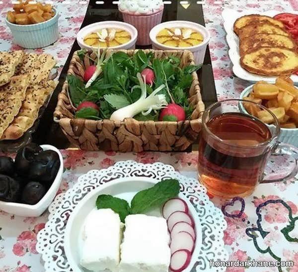 انواع دیزاین ساده میز افطاری