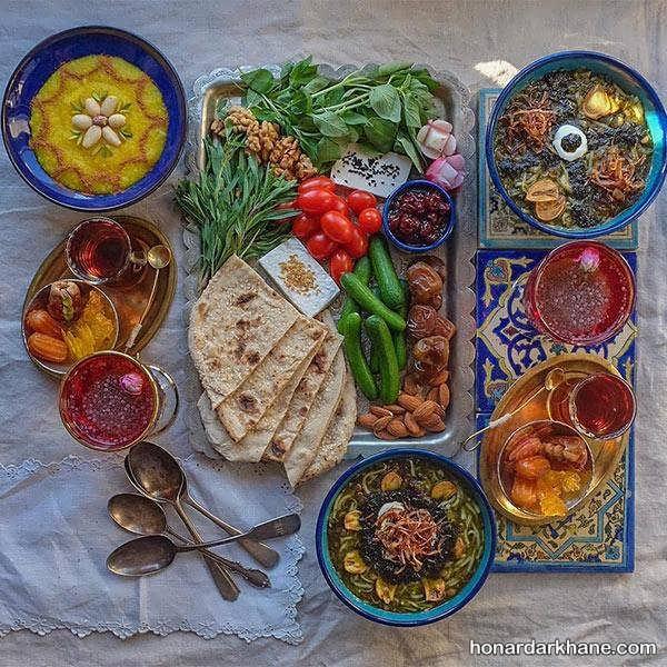 مدل های ساده و زیبا تزیین میز افطار