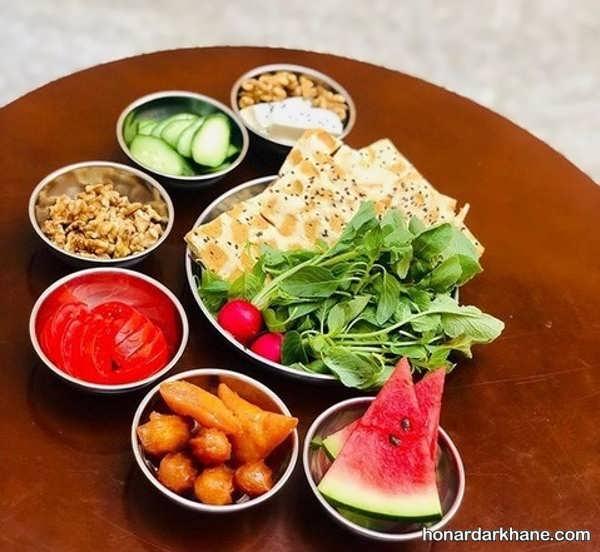انواع چیدمان ساده و جدید میز افطار