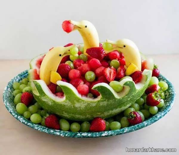 انواع دیزاین جدید و خلاقانه میوه موز