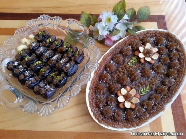 انواع تزیین جذاب حلوا و خرما