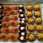 انواع تزیین شیک و زیبا حلوا و خرما