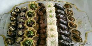 انواع زیبا سازی حلوا و خرما به شکل های مختلف