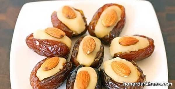 انواع تزیین زیبا حلوا و خرما