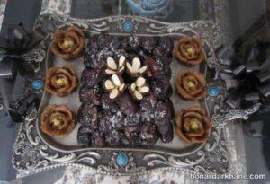 انواع تزیین حلوا و خرما به شکل های مختلف و زیبا