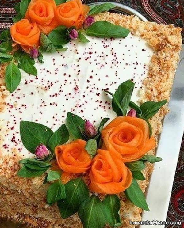 مدل های زیبا و جالب آراستن کیک مرغ