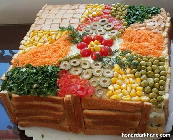 انواع تزیین جالب کیک مرغ مجلسی