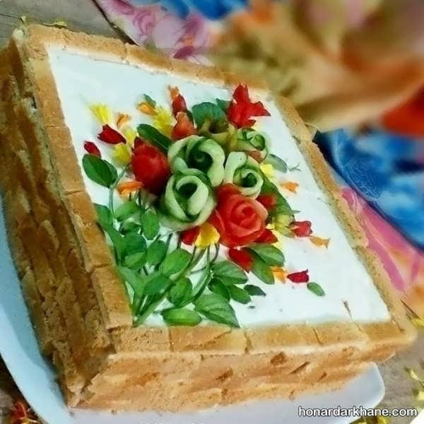 انواع زیبا سازی کیک مرغ به سبک های مختلف