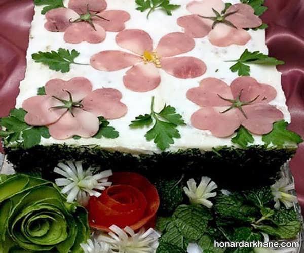 انواع تزیین کیک مرغ به سبک های جذاب