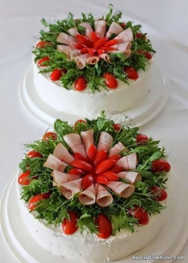انواع مدل های جالب دیزاین کیک مرغ