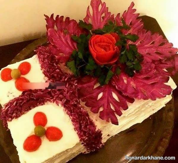 انواع تزیین خلاقانه کیک مرغ