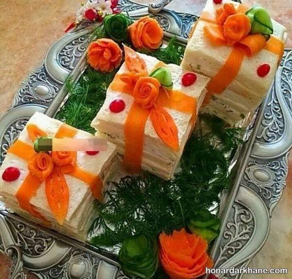 انواع تزیین کیک مرغ مجلسی