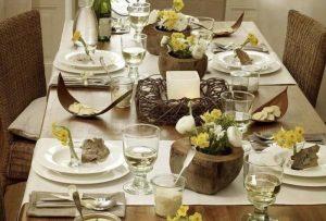 انواع تزیین شیک و جذاب میز ناهار خوری