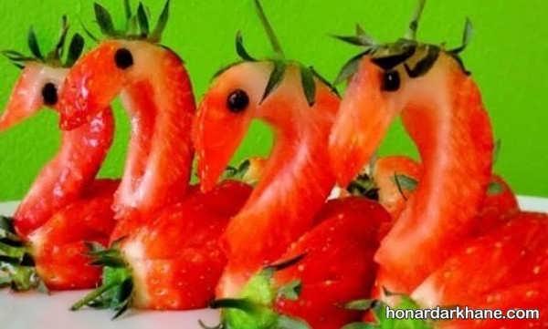 انواع آراستن توت فرنگی به سبک های جذاب